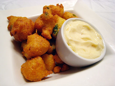 Jalapeño Hush Puppies with Maple Butter