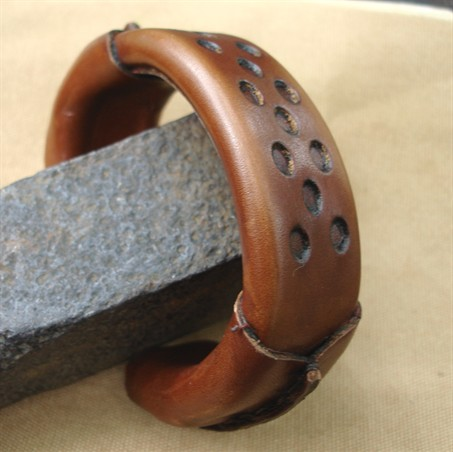Tuaje leather bangle.