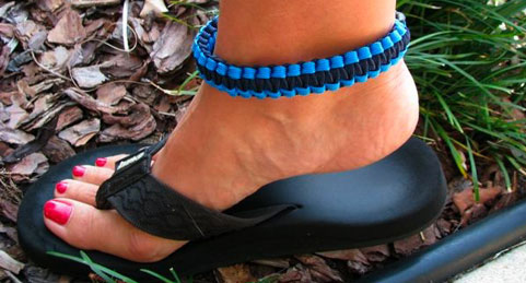 For a more discreet James Bond type of thing, go for the anklet.