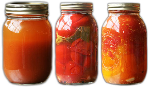 Tomato juice, tomatoes and