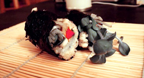 Raw vegan sushi, eat your heart out tokyo!