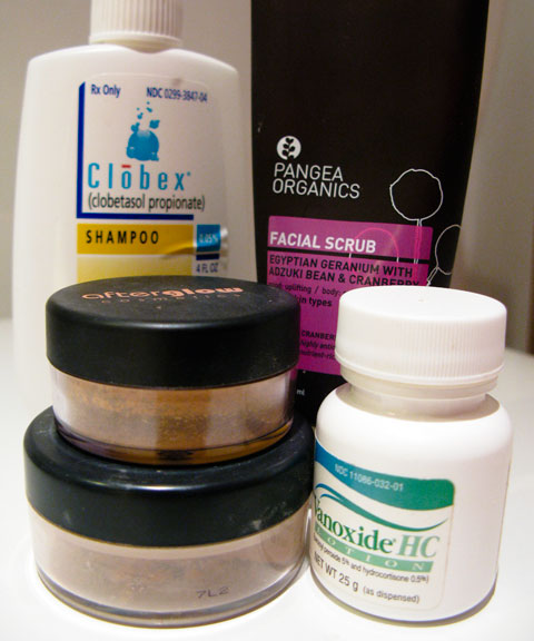 My new beauty routine. Soon, only the Pangea scrub and the mineral make-up will remain.