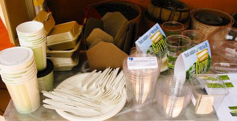 Earth-friendly utensils.