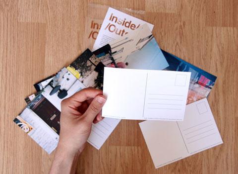 Inside Outside postcards.