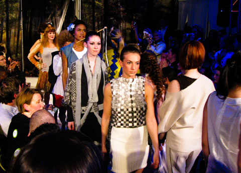 The student show runway finale.