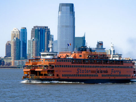 The Staten Island ferry is free and takes you about as close to the Statue of Liberty you can get without paying for the tourist boats.