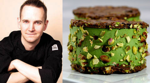 Russell James, of the Raw Chef Blog & one of his raw vegan creations.