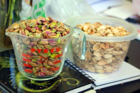 Reconnecting with my food never felt so good. Shelling pistachios clears the mind.