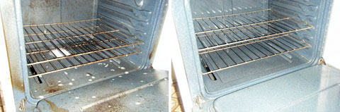 Dirty Oven. Clean Oven.