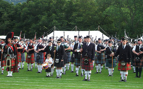 In Scotland, tartan patterns indicate to what clan you belong. Image by conner395, Creative Commons.