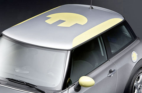"Somber gray, zippy lime green and a ""plug-in"" roof graphic will get you noticed on the road."