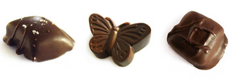 Hand Dipped Salt Caramel, Soft Golden Caramel Butterfly & Salt Roasted Cashew Caramel.