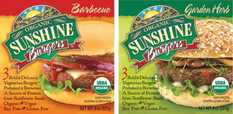 Sunshine Burgers: Barbecue & Garden Herb