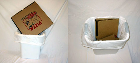 Disposal: regular vs. Green Box. Shouldn't this be a recycling bin, though?