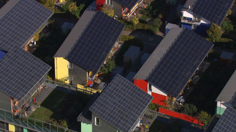 "Solar-powered houses, Vauban district, Freiburg, Germany (47°58'N - 7°50'E). © ""HOME"" – an ELZEVIR FILMS – EUROPACORP coproduction."
