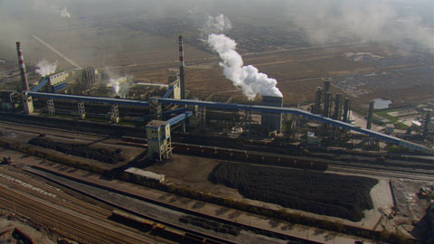 "Coal-fired power plant, Shanxi province, People's Republic of China. © ""HOME"" – an ELZEVIR FILMS – EUROPACORP coproduction."