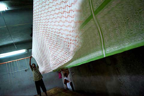 Ethically sourced textiles by NV London Calcutta - Innovation shortlist finalist