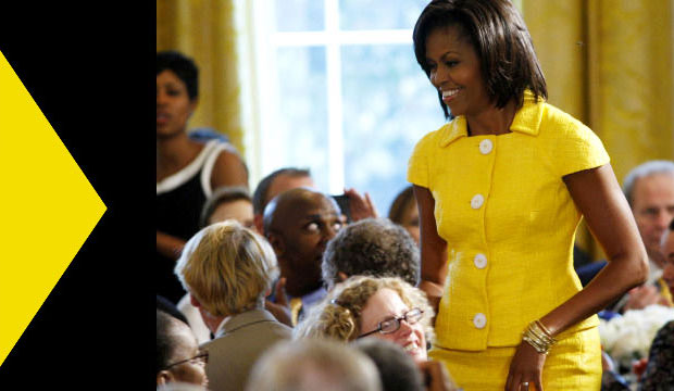 Goodlifer: Yellow Michelle Obama