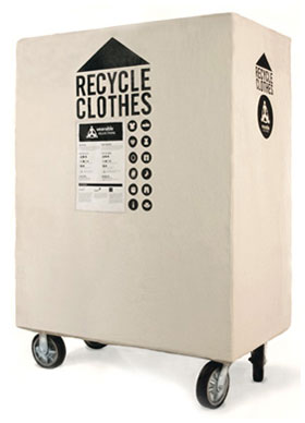 Wearable Collections recycling bin.