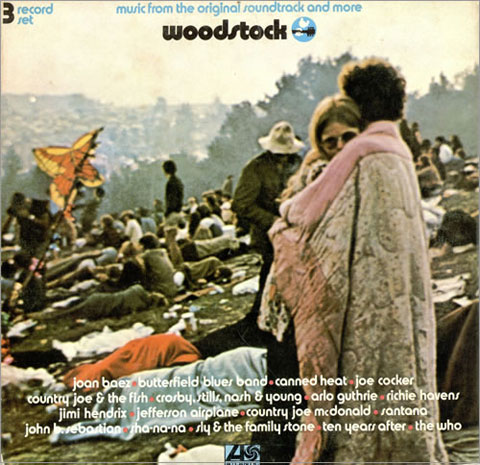 The Woodstock album cover. Image by Burk Uzzle, courtesy Laurence Miller Gallery, New York.