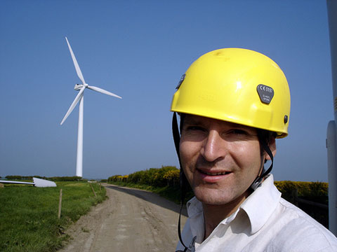 Piers Guy, a British windfarm developer struggling against conservative opposition.