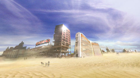 A vision of Las Vegas in 2055, when man has once and for all lost the battle against desert.