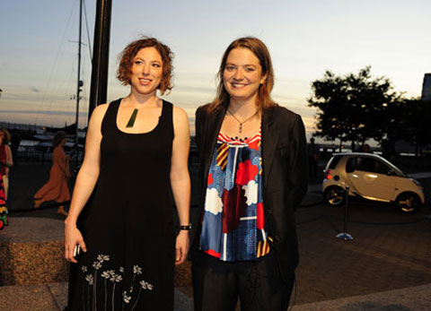 Producer Lizzie Gillett & Director Franny Armstrong at the New York premiere.