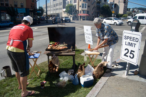 CC Puede Health Clinic & BBQ Park(ing) Day, North Beach, SF. Photo by Steve Rhodes, Creative Commons.