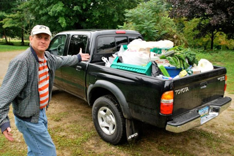William Drenttel, with a truckload of produce.