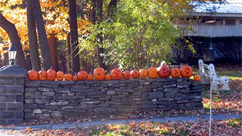 Inventive pumpkins, Rhinebeck, NY.