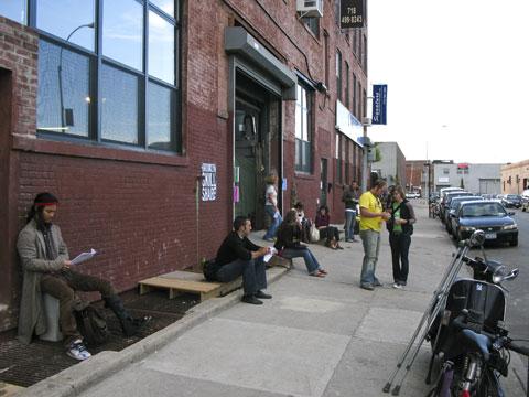 Skillsharers outside Gowanus Studio Space.