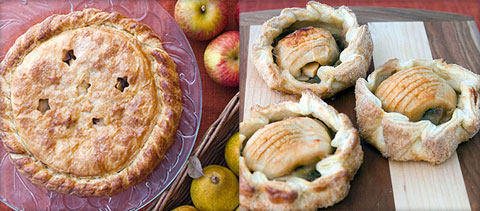 Peach Crostada & Apple Tartlettes.