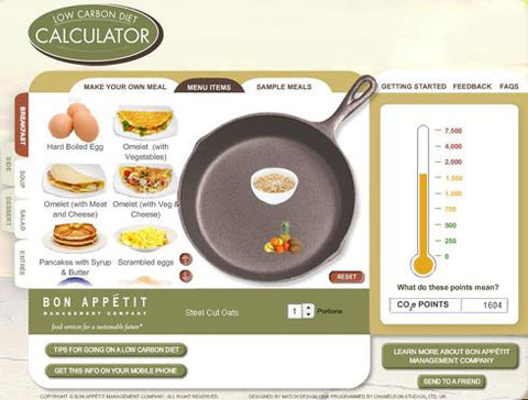 The Low Carbon Diet Calculator can give you an idea of your personal Foodprint.