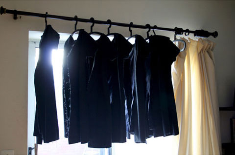Seven identical dresses were made.