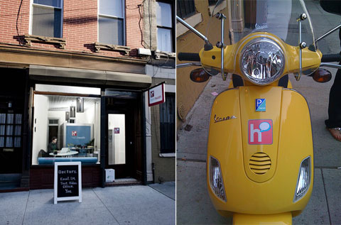 The Hello Health practice in Williamsburg, Brooklyn. Awesome yellow house-call transportation.