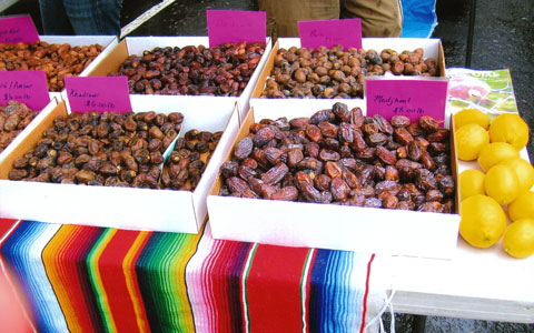 Date varieties at Flying Disc Ranch's farm stand.