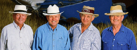 Eldon, Wendell, Harlan and Homer Lundberg pioneered organic rice growing in America and still run the family business.