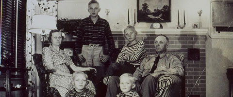 Albert and Frances Lundberg with their four sons, Eldon, Wendell, Harlan and Homer.