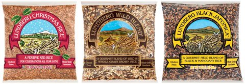 Wild Rice: Christmas Rice, Wild Blend & Black Japonica.