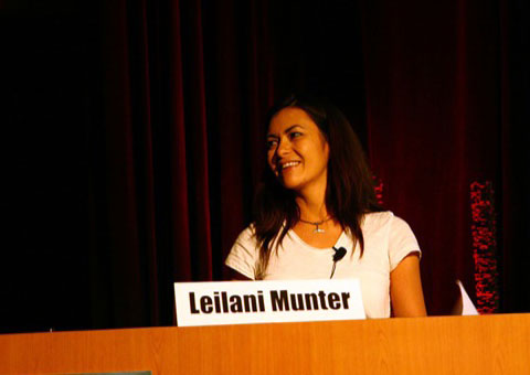 Making opposites attract. Leilani Münter is a race car driver, and an evironmentalist.