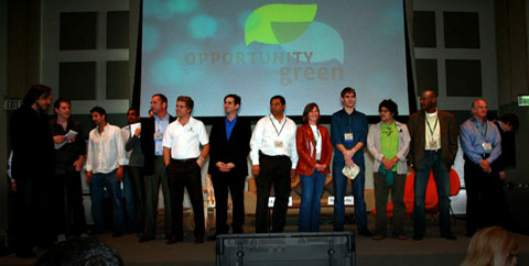 A few of the OG25 on stage, after their lightning-round one minute presentations.