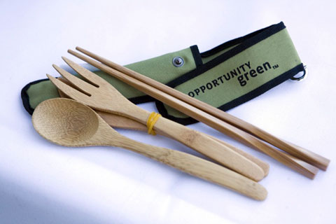 Each conference attendee was given a full set of bamboo utensils to use with every meal during the two days, and hopefully at work, home and in restaurants in the future.