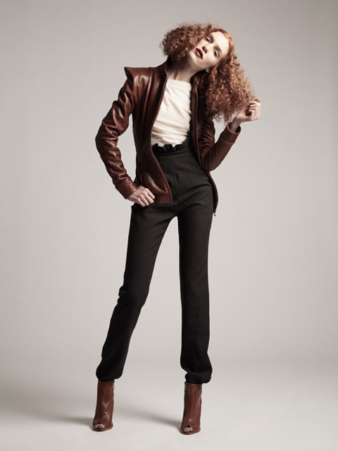 Leather Warrior Jacket, Alpine Top & Sedge Pants.