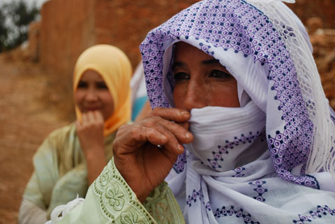 Morocco's indigenous Berber women are the only ones allowed to harvest the oil from the argan trees.