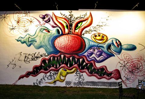 Kenny Sharf's wall.