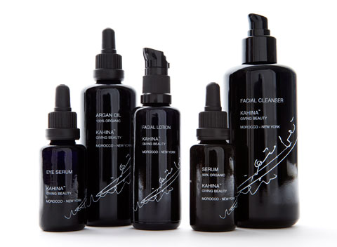 The full Kahina Giving Beauty product line.
