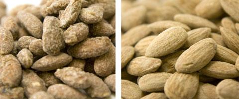 Snacks: Cinnamon Almonds & Garlic Almonds.