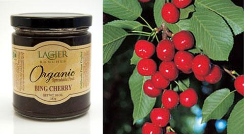 Lagier Ranches Organic Bing Cherry Preserve.