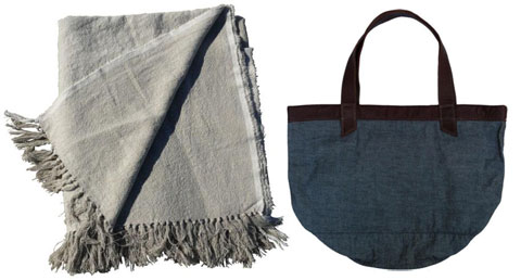 Environment by Heather Heron Hand Knotted Beach Blanket & Travel Tote.