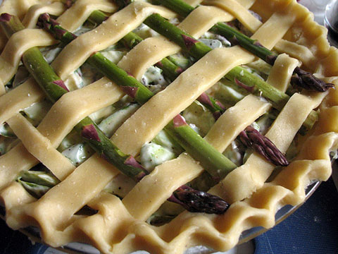 One of Erway's recipes: a gorgeous Asparagus Pie.
